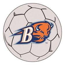 ncaa bucknell university 27 in round soccer ball area rug