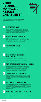 Product Management Resume Your Product Manager Resume Cheat Sheet [Infographic] Product 12