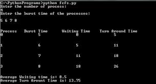 Gantt Chart Fcfs Scheduling Algorithm Implementation Of First Come First Serve Fcfs Scheduling