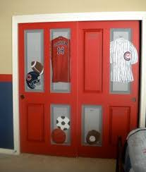 painted closet door ideas. Closet Of Lockers!, This Sports Room Was Created For A Very Athletic Boy, Whos Father Loves Chicago! I Painted Typical Doors To Look Like Red Door Ideas S