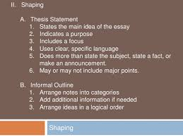 stages of writing an essay planning 4