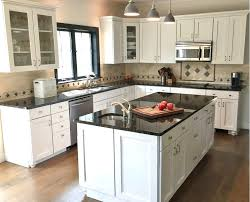 image of elegant small l shaped kitchen designs with island