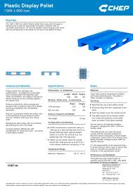 chep pallet dimensions. plastic display pallet - 1200 x 800 mm 1 / pages chep dimensions p