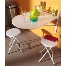 Table De Cuisine Avec Tabouret Table Murale Sinai Pliable Avec 2