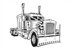 Small Picture Transformers Optimus Prime Semi Truck Coloring Page trains