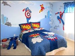 Kids Bedroom Wall Decor Simple Kids Bedroom With Superhero Wall Decor And Pillow Cover