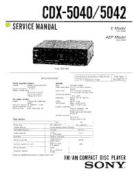 sony cdx 5040 5042 sm service manual schematics sony cdx 5040 5042 sm service manual 1st page