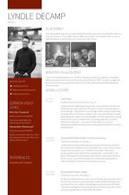Pastor Resume Templates Gorgeous Pastor Resume Samples VisualCV Resume Samples Database