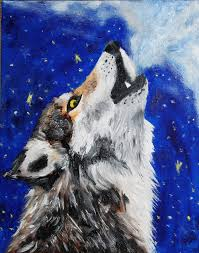 wolf howling painting. Wonderful Painting Wolf Wolf Art And Howling Image In Wolf Howling Painting W