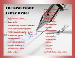 real estate marketing letters