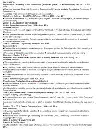Investment Banking Resume Example Dew Drops