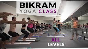 bikram yoga workout 60 minute hot