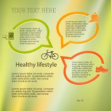 Healthy Lifestyle Organic Food Icons Modern Infographic