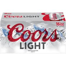 Coors Light Nutrition Facts 16 Oz Coors Light Beer American Light Lager 18 Pack Beer 16 Fl