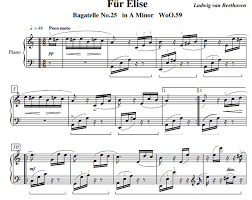 The free sheet music on piano song download has been composed and/or arranged by us to ensure that our piano sheet music is legal and safe to download and print. Beethoven Fur Elise Free Sheet Music Pdf For Piano The Piano Notes