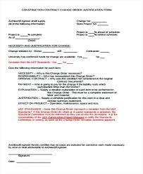 Project Change Order Template Construction Change Order Template Skincense Co