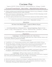 Cosmetology Sample Resume Cosmetology Resume Examples Bitacorita