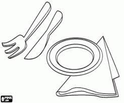 Gebruiksvoorwerpen Om Te Eten Aan Tafel Borden Servetten Vork En