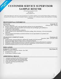 Supervisor Resume Skills Extraordinary Customer Service Supervisor Resume Sample Resumecompanion