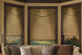 ... Brown Rectangle Traditional Bamboo Woven Shades For Windows Stained  Ideas: Stunning woven shades ...
