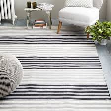 black and white striped cotton rug designs