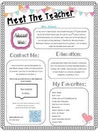Meet The Teacher Letter Templates Welcome Sign Freebie Letter To Teacher Teaching Parents