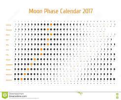 Moon Chart Astrology Vector Astrological Calendar For 2017 Moon Phase Calendar