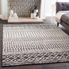 elaziz black rectangle 2 ft x 3 ft rug