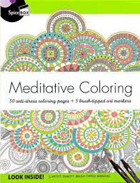 Meditative Coloring 50 Anti Stress Coloring Pages 5 Art Markers
