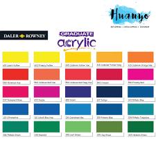 Daler Rowney Graduate Acrylic Paint Colour 120ml Per Tube