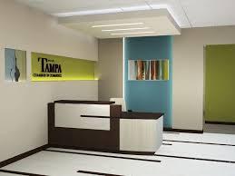 modern reception desk layout ideas