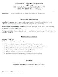 Programmer Resume Example Application Programmer Resume Systems ...