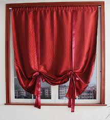 Maroon Curtains For Living Room Online Get Cheap Adjustable Balloon Shade Curtain Aliexpresscom