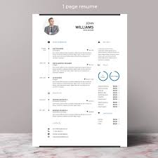 Resume Template With Photo Cv Template Cover Letter Instant Download Teacher Resume Professional And Creative Resume Template