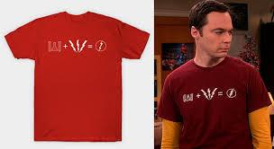 sheldon coopers flash equation shirt