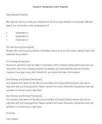 Employment Separation Notice Template Unique Employee Termination Ga