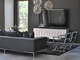 Gray Living Room Cool Design Ideas