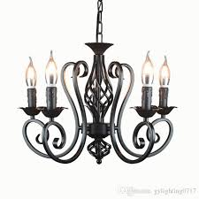 industrial re chandelier wrought iron 3 5 6 light chandeliers vintage candlestick retro black white hanging lamp whole vintage chandeliers kitchen