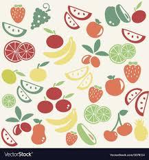 Fruit Pattern Impressive Fruit Pattern Royalty Free Vector Image VectorStock