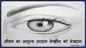 Eye Donation Slogans In Hindi - नेत्रदान श्रेष्ठदान via Relatably.com