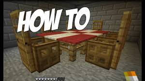 How to make a table in minecraft Views How To Make Table Cloth Dining Room In Minecraft furniture Series Episode Youtube How To Make Table Cloth Dining Room In Minecraft furniture