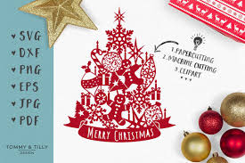 orted christmas tree svg eps dxf png pdf jpg cut file exle image 1