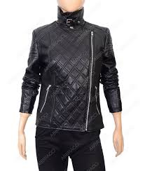 stand collar black biker jacket womens quilted motorcycle jacket