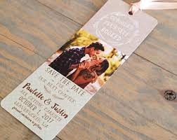bookmark save the date save date bookmark etsy