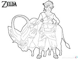Zelda Coloring Page Coloring Pages Princess Page Free Printable