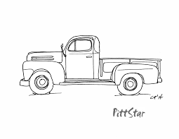 pickup truck coloring pages. Contemporary Pickup Vintage Truck Coloring Pages  Old Pickup Truck Coloring Pages To I