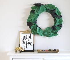 diy crepe banana leaf wreath