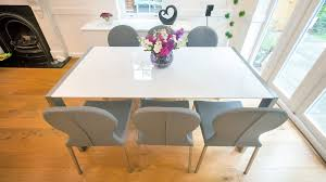 modern white dining room chairs. White Gloss 4-8 Seater Extending Dining Table Modern Room Chairs