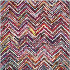 safavieh nantucket multi area rug 6 x 6 square