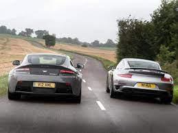 Aston Martin V12 Vantage S Vs Porsche 911 Turbo S 2014